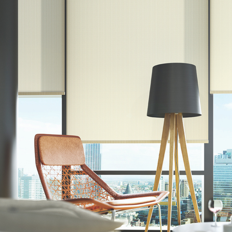 Cameo Blinds - Pale roller blinds.
