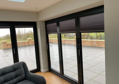 Right sided full length patio door blinds