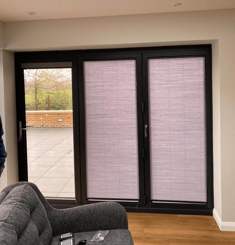 Full length patio door blinds