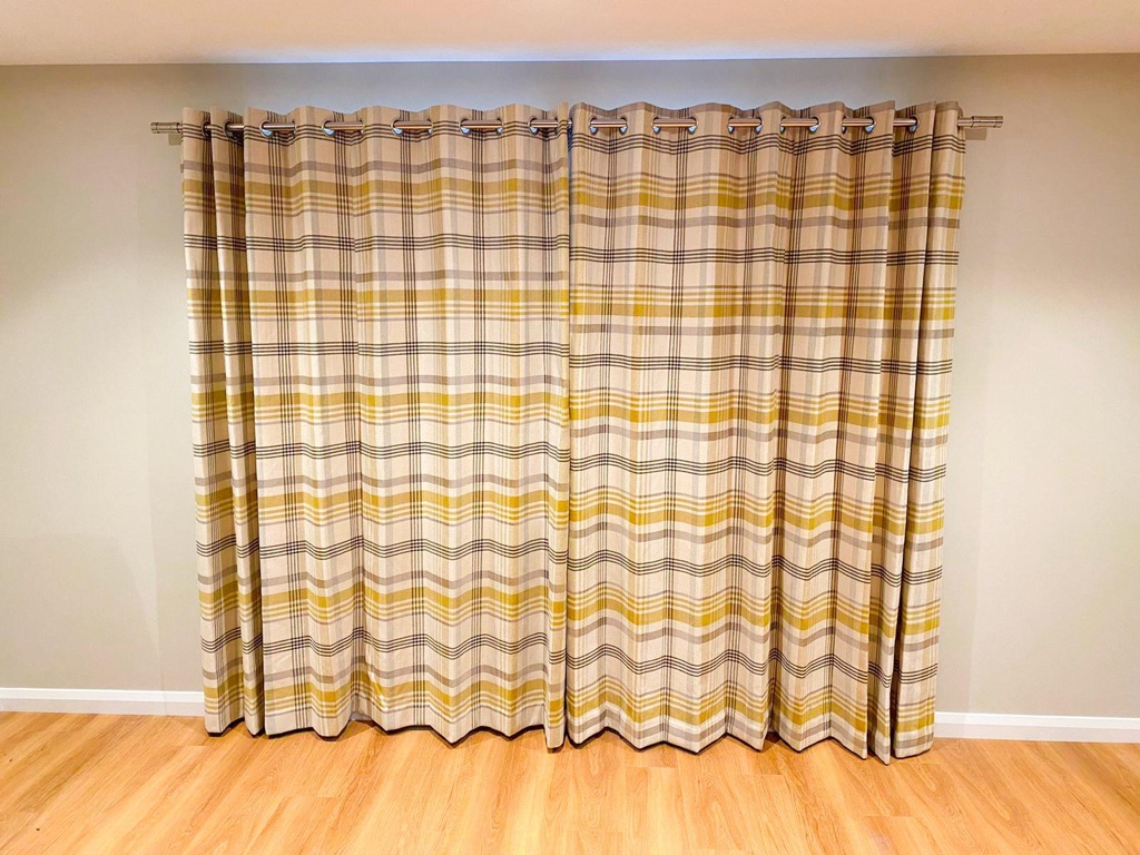 Curtains supplied and fitted in a new-build property by Cameo Blinds of Ely.